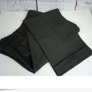 Jos A Bank Brown Black Houndstooth Pants 35x30.5